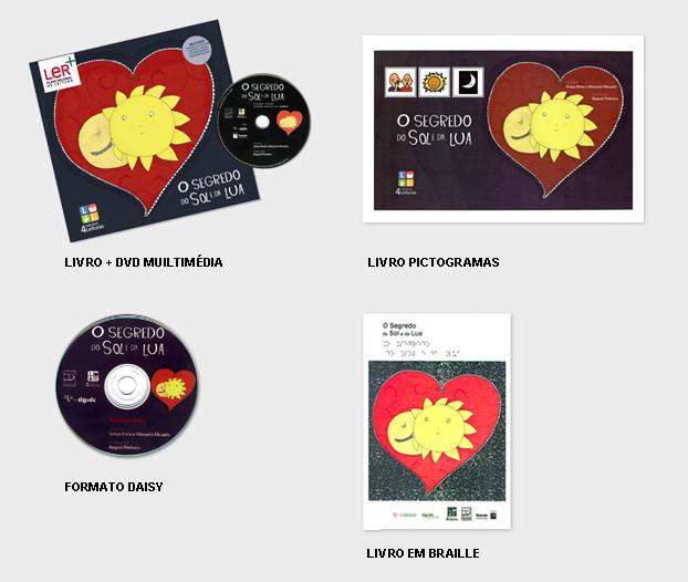 Livro, dvd, livro de pictogramas